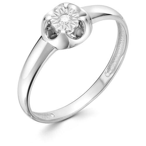 АЛЬКОР Кольцо с 1 бриллиантом из белого золота 12711-200, размер 17 алькор кольцо с 1 бриллиантом из белого золота 13299 200 размер 17