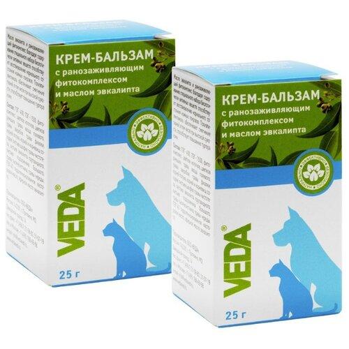 Крем-бальзам зоогигиеническое защитное средство с ранозаживляющим фитокомплексом и маслом эвкалипта, 2 шт,VEDA