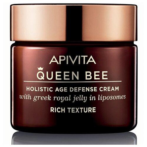 крем Apivita Queen Bee holistic age defense cream rich texture Kвин Би комплексный уход против старения с насыщенной текстурой, 50 мл
