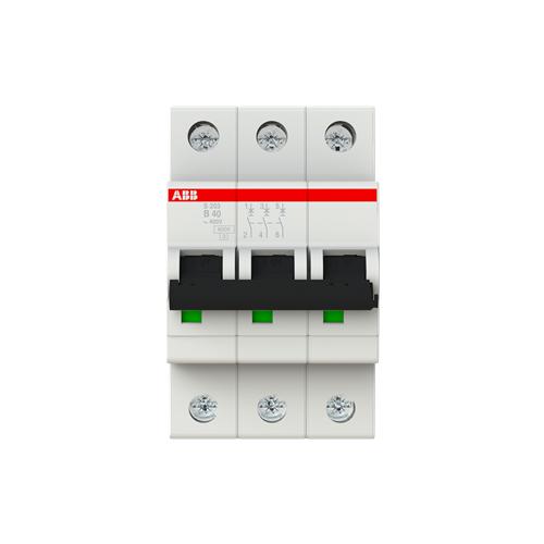 Автоматический выключатель ABB S203 3P (B) 6kA 40 А выключатель автоматический курскэаз ва51 35м1 340010 100а 690ac ухл3 108310 146749