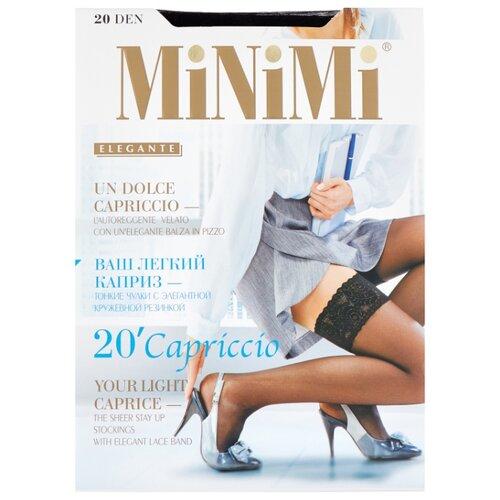 цена Чулки MiNiMi Capriccio 20 den, размер 2-S/M, nero (черный) онлайн в 2017 году
