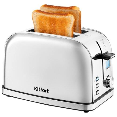 Фото - Тостер Kitfort KT-2036, серебристый тостер kitfort kt 2036 3