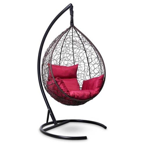 Подвесное кресло-кокон Laura Outdoor Sevilla, коричневый/бордовый