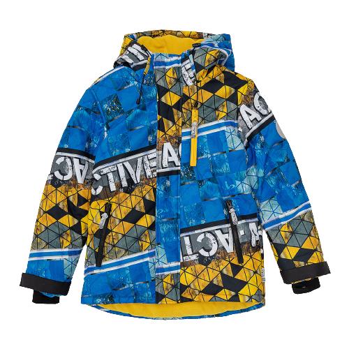 Купить Куртка Button Blue 220BBBA41033720 размер 128, синий, Куртки и пуховики