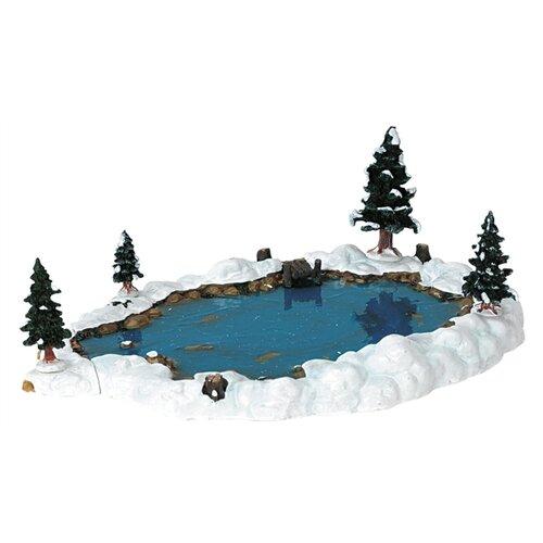 Фигурка Lemax композиция Пруд 9.6 х 29 х 20.6 см белый/синий