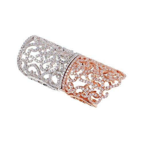 JV Кольцо с фианитами из серебра WR22790-BM-001-VR, размер 16.5 jv женское серебряное кольцо с куб циркониями в позолоте wr22790 bm 001 vr 16 5