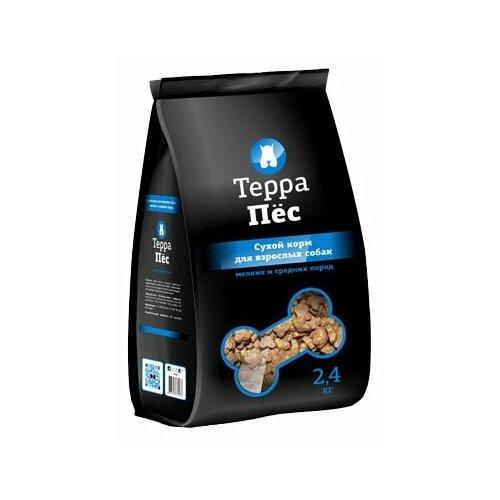 Корм для собак ТерраПёc Сухой для мелких и средних пород (2.4 кг)