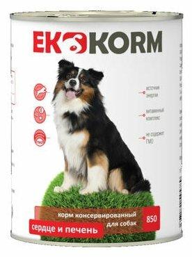 Корм для собак Ekkorm Для собак - Сердце и печень