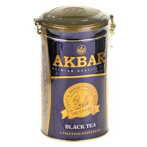 Чай Черный Akbar 100 years Limited edition подарочный набор , 150 г цена 2017