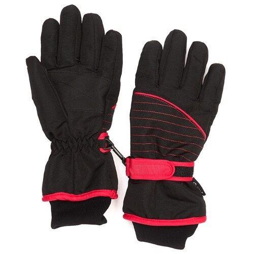 Фото - Перчатки Oldos Леоне AAW193T1AC04 размер 7-8, черный/розовый перчатки женские fabretti цвет черный зеленый 12 66 1 15 black green размер 7 5