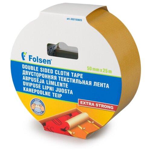 Клейкая лента монтажная Folsen 32155025, 50 мм x 25 м клейкая лента универсальная folsen 51044850 48 мм x 50 м