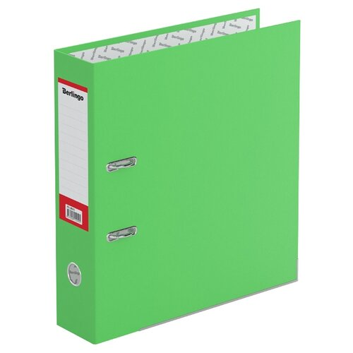 Berlingo Папка-регистратор с металлической окантовкой Hyper A4, 80 мм, крафт-бумага зелeный папка регистратор 80 мм pvc зеленая с металлической окантовкой