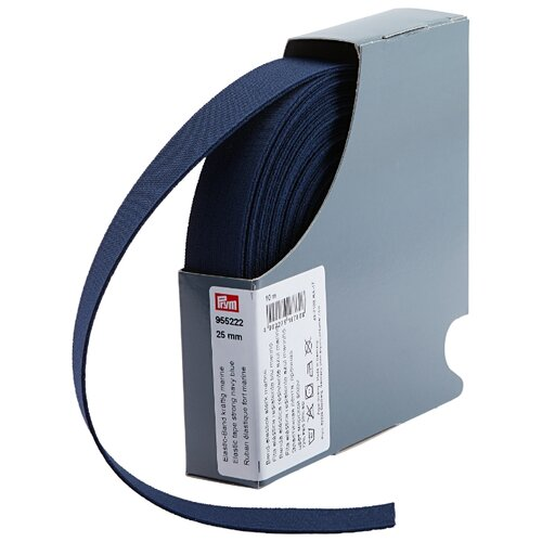 Prym Прочная эластичная лента (955222), темно-синий 2.5 см х 10 м, Технические ленты и тесьма  - купить со скидкой