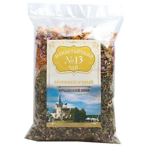 Фото - Чай травяной Крымский чай Монастырский № 13 Бронхолёгочный, 100 г чай травяной aroma монастырский 100 г