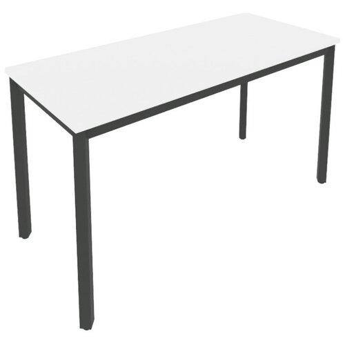 Письменный стол Рива Slim С.СП, ШхГ: 138х60 см, цвет: металл антрацит/белый