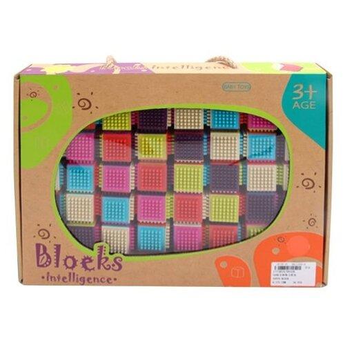 Купить Игольчатый конструктор Наша игрушка Blocks Intelligence 9932B Умные кубики, Конструкторы