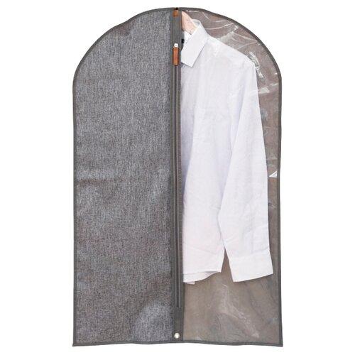 HAUSMANN Чехол для одежды Lady&Gentleman HM-6A-301 60x100 см серый