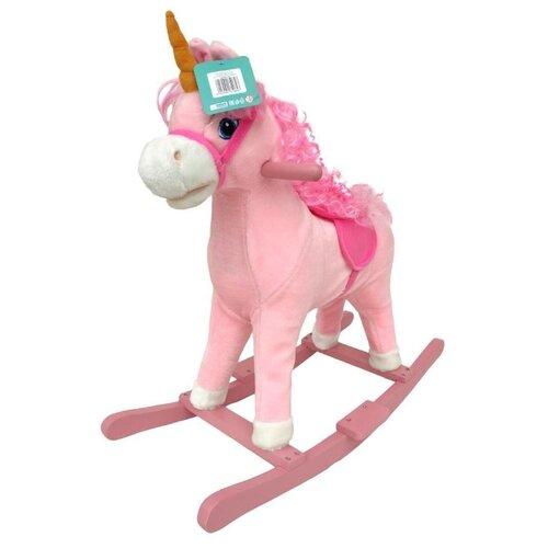 Каталка-качалка Наша игрушка Лошадка WJ-318U розовый