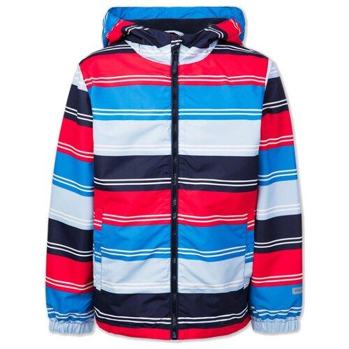 Ветровка playToday 120217124 размер 128, синий/темно-синий/красный куртка playtoday 393022 размер 128 темно синий