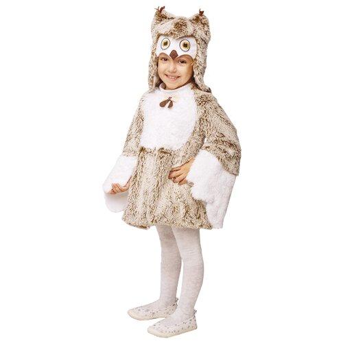 Купить Костюм пуговка Сова Луша (944 к-19), белый/коричневый, размер 104, Карнавальные костюмы