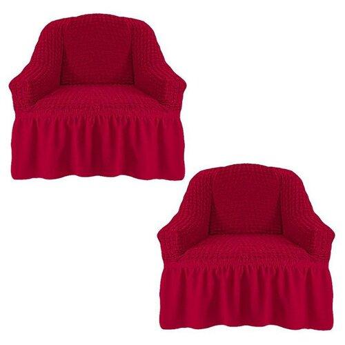 Комплект чехлов на 2 кресла, 239/111.221, Karteks, бордовый
