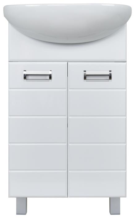 Купить Тумба Вега 50 DORATIZ 9912.495, напольная, белая, под умывальник Ладога по низкой цене с доставкой из Яндекс.Маркета (бывший Беру)