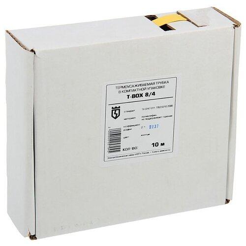 цена на Трубка усаживаемая (термоусадочная/холодной усадки) КВТ Т-BOX-8/4 (желтый) 8 / 4 мм