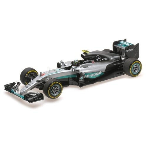 Bburago Машинка металлическая Формула-1 Mercedes F1 W07 Hybrid 2016 №6, 1:18