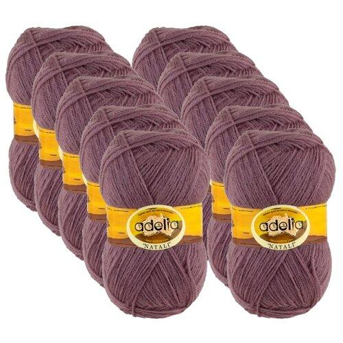 Купить Пряжа Adelia Natali, 100 % акрил, 50 г, 300 м, 10 шт., №23 св.серо-фиолетовый