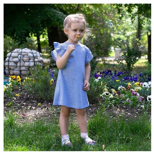 Платье АЛИСА размер 98, голубой