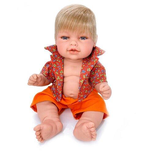 Кукла Manolo Dolls Leo nino, 48см, 8079 кукла младенец manolo dolls мягконабивной canguros 30см 4500