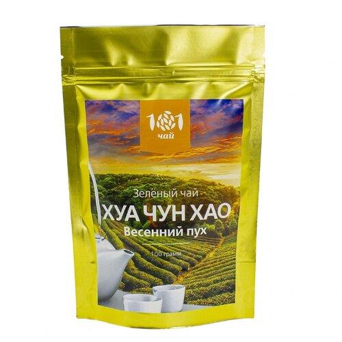 Чай зеленый 101 чай Хуа чун хао, 100 г гуй хуа long jing лунцзин колодец дракона зеленый чай со сладким османтуса цветы