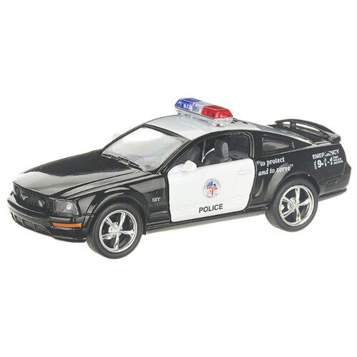 Купить Детская инерционная металлическая машинка с открывающимися дверями, модель Ford Mustang GT полиция, черный, Serinity Toys, Машинки и техника