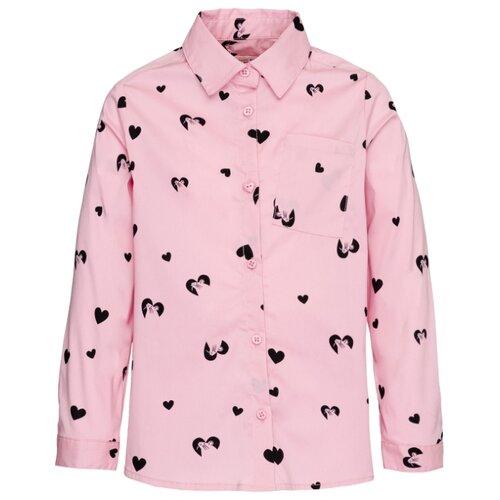 Рубашка Button Blue размер 98, розовый