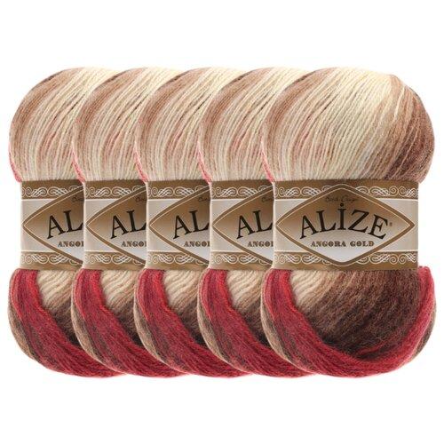Купить Пряжа Alize Angora Gold Batik, 20 % шерсть, 80 % акрил, 100 г, 550 м, 5 шт., 4574