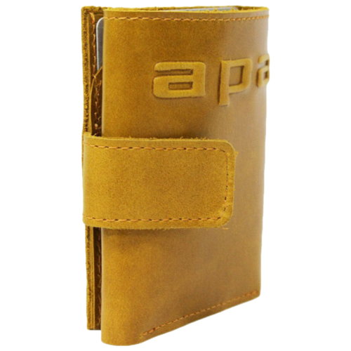 Фото - Купюрник кожаный МП-А табачно-желтый Apache портмоне кошелек для документов и денег вояж табачно желтое apache