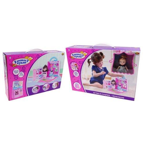 Купить ABtoys кукольный домик В гостях у куклы PT-01112, розовый, Кукольные домики