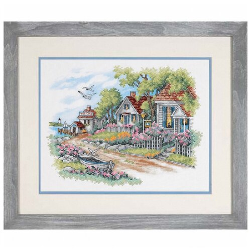 Купить Набор для вышивания DIMENSIONS 03240 Дом у моря 45 x 38 см, Наборы для вышивания