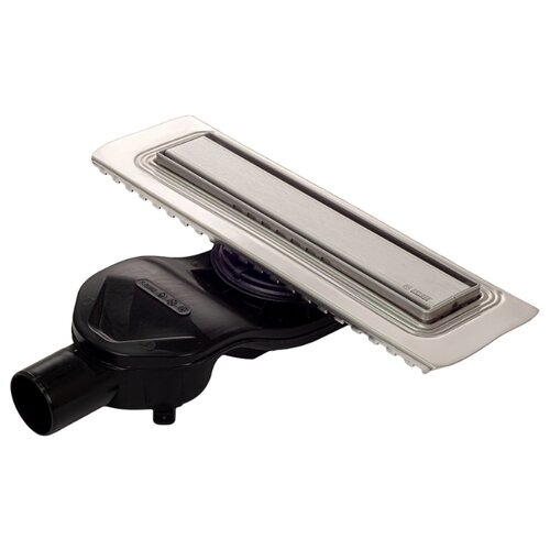 BERGES Желоб водосток В1 Keramik 500, матовый хром, боковой выпуск S-сифон D50 H60