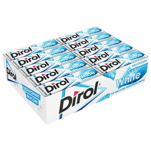 Жевательная резинка Dirol Cadbury White Перечная мята без сахара 30 шт