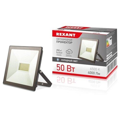 Прожектор светодиодный REXANT 50 Вт IP65 4000 лм 6500 K холодный свет