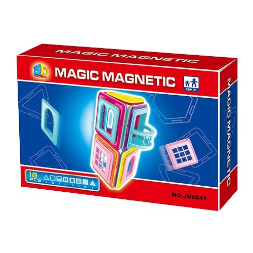 Купить Магнитный конструктор Наша игрушка Magic Magnetic JH8841, Конструкторы
