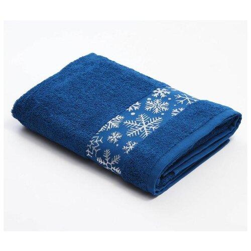 LoveLife полотенце Снежинки банное 70х130 см синий