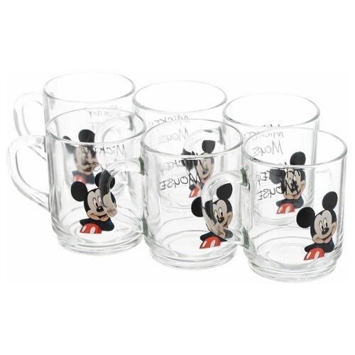 Luminarc Набор кружек Disney Mickey Сolors 6 шт 250 мл прозрачный