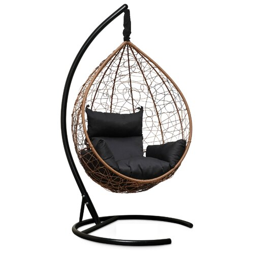 Подвесное кресло-кокон Laura Outdoor Sevilla, горячий шоколад/черный