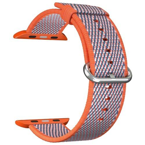 Нейлоновый ремешок для Apple Watch 38/40 mm LYAMBDA POLIS DSN-02-01A-40-OR Orange ремешок для часов lyambda для apple watch 38 40 mm polis dsn 02 02a 40 rd red