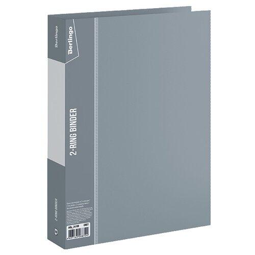 Купить Berlingo Папка на 2-х кольцах Standard A4, пластик, 40 мм серый, Файлы и папки