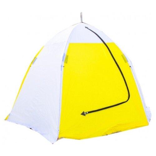 Палатка СТЭК Классика 3 (дышащая) белый/желтый палатка tramp lite twister 3