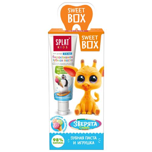 Подарочный набор Sweet Box зубная паста Kids Splat Фруктовое мороженое с игрушкой