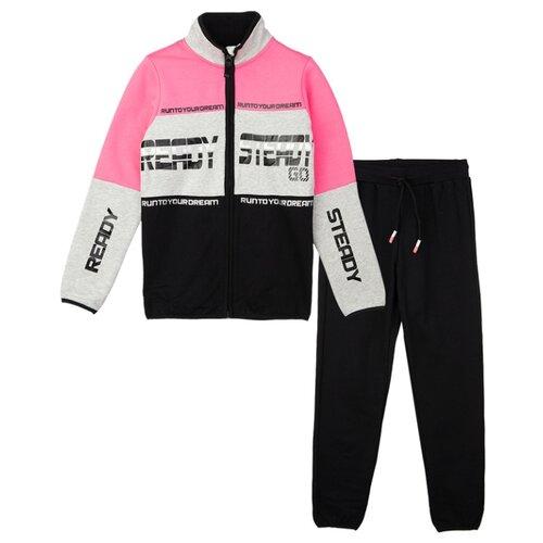 Фото - Спортивный костюм playToday размер 110, черный/серый/фуксия футболка playtoday размер 110 фуксия